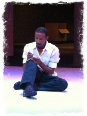 Reuben Mitchell in rehearsal
