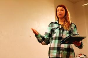 Jennifer MacMillan in rehearsal