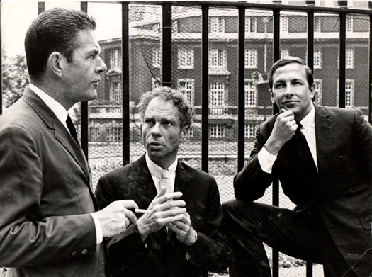 Three friends: John Cage, Merce Cunningham, Robert Rauschenberg