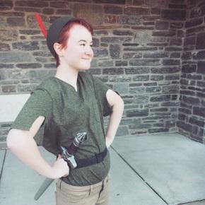Noa was Peter Pan for Halloween